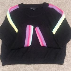 Derek Heart raimbow sleeve sweater NWOT size L